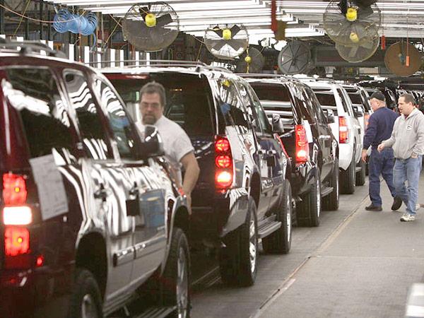 Imagem ilustrativa de fábrica da GM nos Estados Unidos
