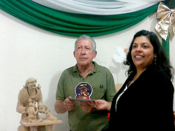 Callipo recebeu premiação e troféu pela obra 'O Criador'