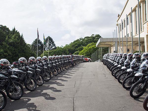 Ao todo, o Governo entregou 41 motos para a Polícia Militar que atua nas cidades do Vale do Paraíba
