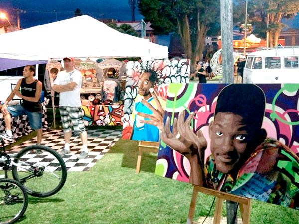 Exposição de grafite do artista plásitco Mr. Freed estavam entre as atrações