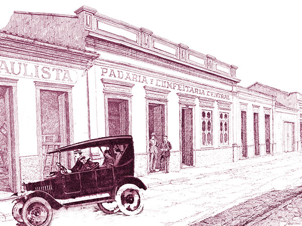 O veículo que aparece na Ilustração, bico de pena de Renato San Martin  (do livro,Pelas Velhas ruas de Pindamonhangaba, 1995) é uma montagem computadorizada
