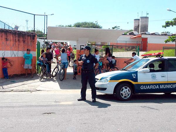 As ações da Guarda se dão nas unidades escolares e em seu entorno