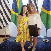 Presidente do FSS de Pindamonhangaba com  Lu Alckmin, que coordena a campanha estadual