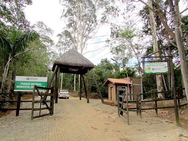 Portaria de entrada do Parque do Trabiju, que receberá visitantes para o evento