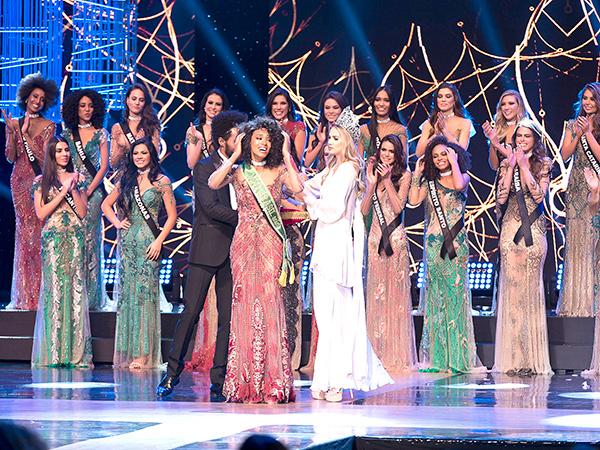 Raissa Santana, atual Miss Brasil e segunda negra a ganhar o concurso, coroará sua sucessora