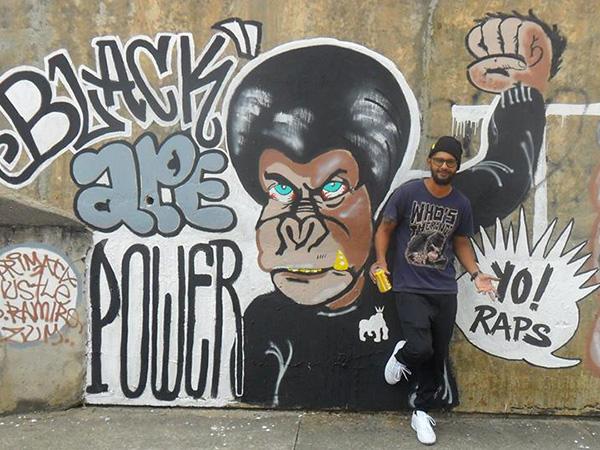 O artista Apes é um dos rappers que se apresentará no sábado (16)