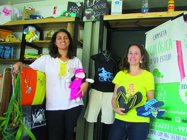 Marcela e Cleide são empreendedoras de modas sustentáveis e artesanais da região