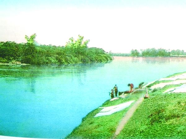 Rio Paraíba no trecho que margeia o Bosque da Princesa. No século XIX esse rio foi via de transporte e de comunicação.  Por aqui havia  estações de embarque para receber produtos vindos do Sul de Minas com destino ao porto de Cachoeira, onde eram embarcados na Estrada de Ferro D. Pedro II, seguindo para o Rio de Janeiro