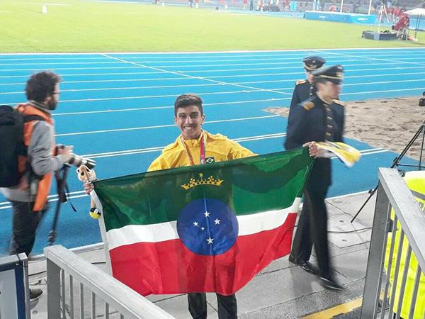 O atleta é o atual líder do ranking sul-americano Sub 18 dos 110 metros com barreiras