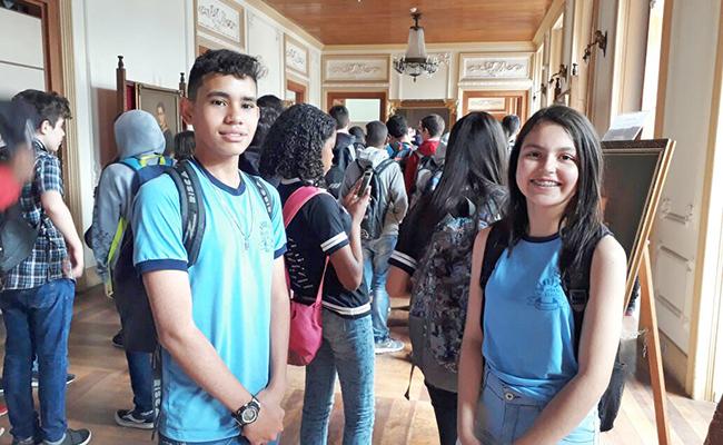 Os estudantes puderam conhecer e aprender sobre o prédio histórico