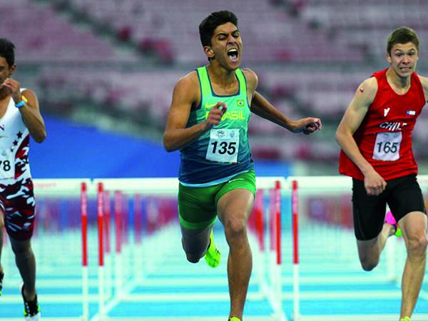 Chegada de Marcos Paulo no Jogos Sul-Americanos da Juventude