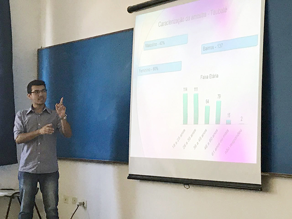 Alan Kevin entrevistou mais de 350 pessoas para produzir sua pesquisa e investigar hábitos de consumo de mídia da população de Taubaté
