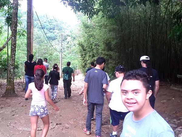 Os alunos conheceram o  Parque do Trabiju