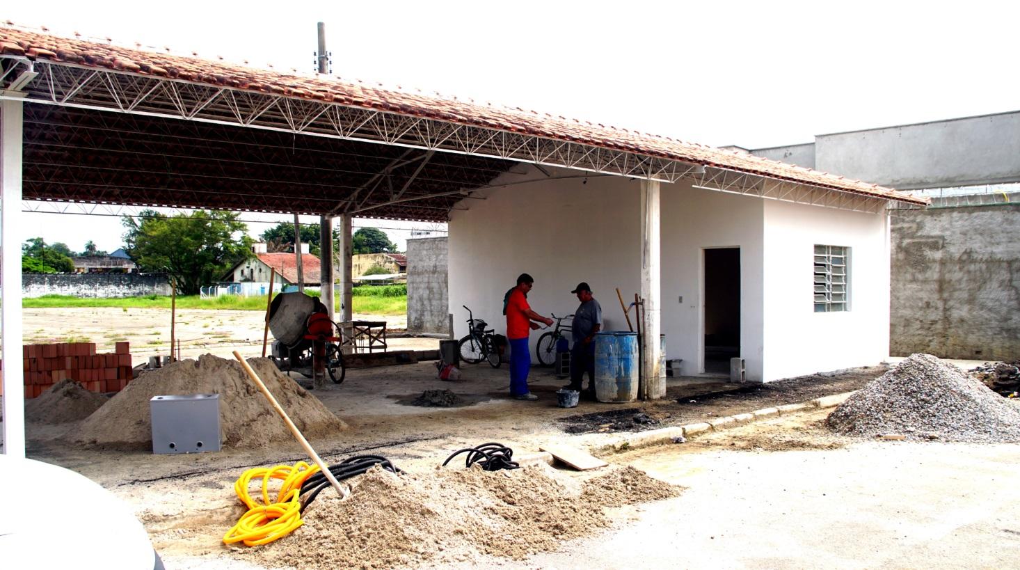 Local fi ca entre o CEM e o novo Centro Municipal de Educação Infantil, na rua Major José dos Santos Moreira