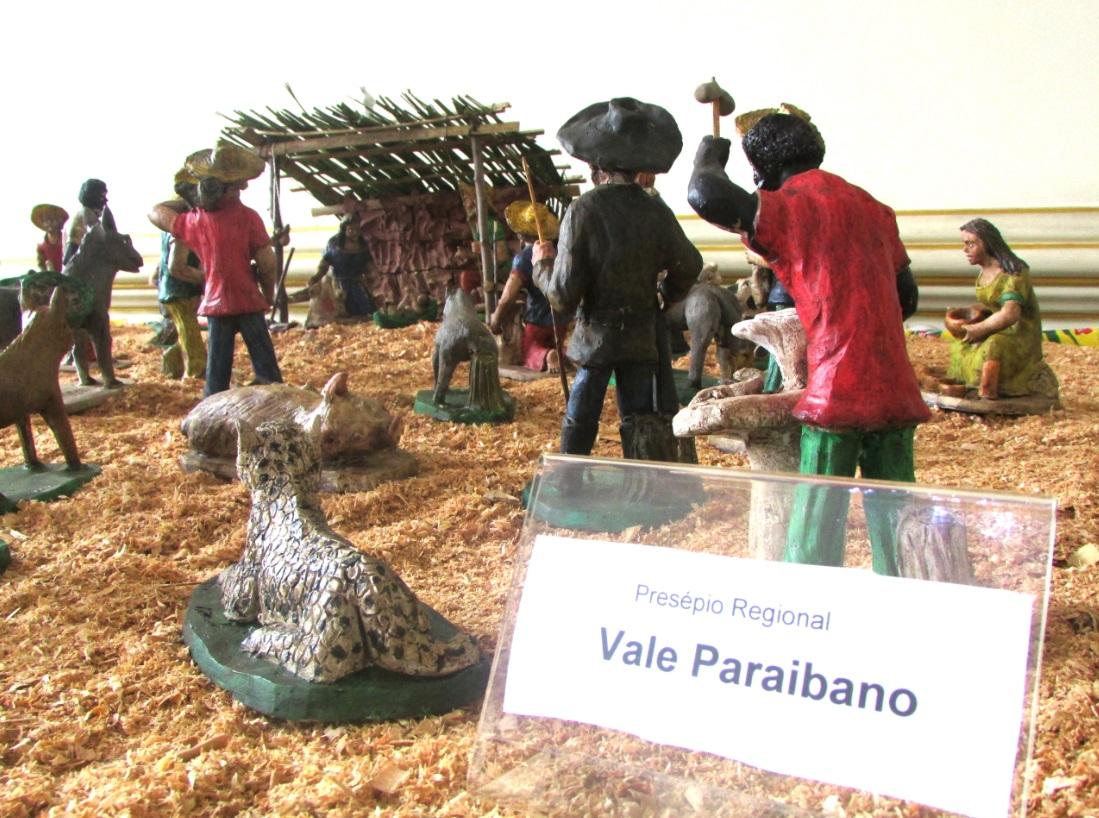 O presépio caipira é uma das obras que estão sendo expostas no museu até janeiro
