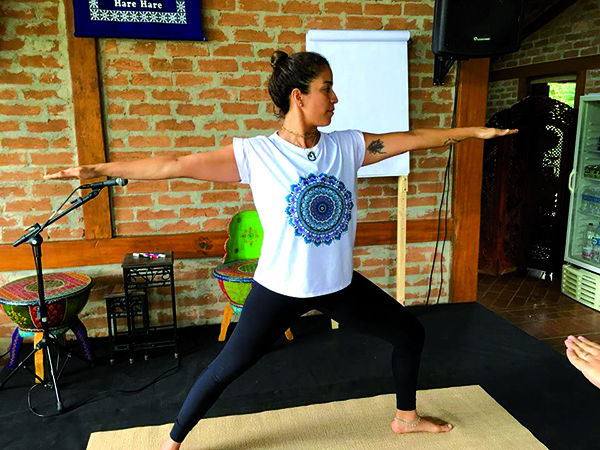 Entre os participantes estavam muitos praticantes de yoga e adeptos das culturas vegana e ayurveda