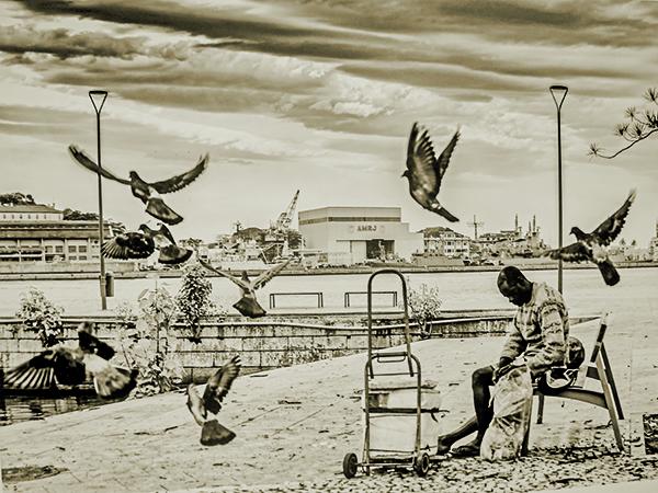As fotos retratam personagens do cotidiano urbano