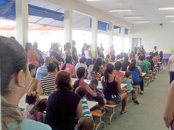 A comunidade mostrou interesse em participar da vida escolar das crianças