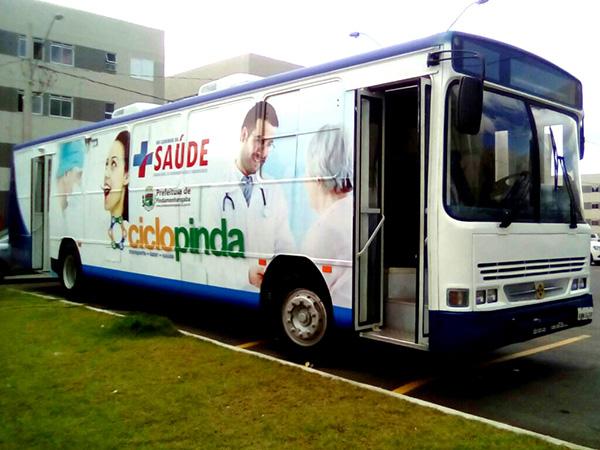 Ônibus da Saúde está no Bem Viver durante a semana e, nesta sexta-feira, fará a vacinação contra a febre amarela
