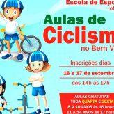 Inscrições para aulas de ciclismo no 'Bem Viver' iniciam segunda-feira