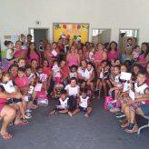 Cmei Maria Aparecida  Gomes desenvolve ações de prevenção ao câncer de mama