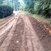 Estrada das Oliveiras recebe manutenção para circulação de transporte coletivo