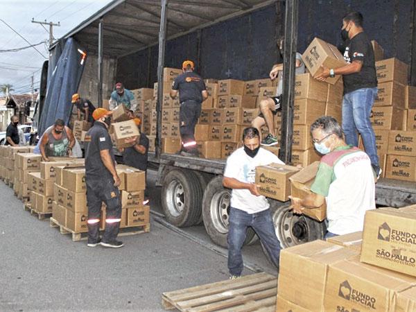 Fundo Social de Solidariedade ganha 990 cestas básicas do Estado para beneficiar famílias de Pinda