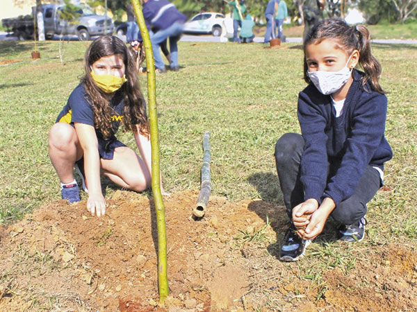 """Pinda comemora  """"Semana do Meio Ambiente"""" com plantio de novas árvores no Lessa"""